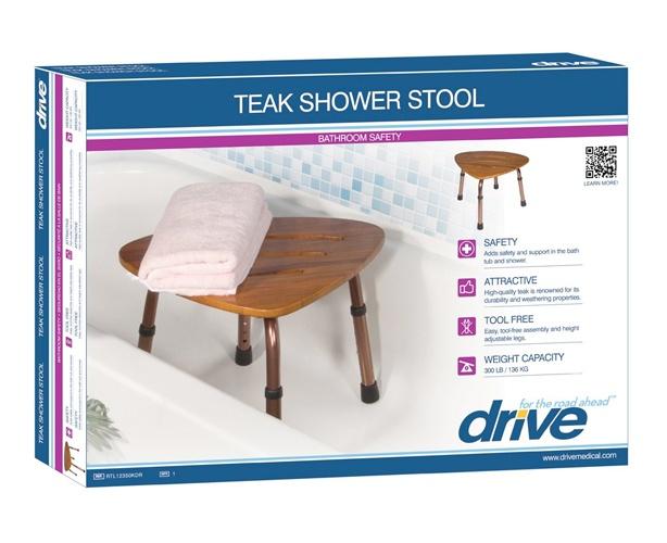 Adjustable Teak Bath Bench