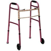 Mabis DMI Duro-Med 2-Button Release Adjustable Aluminum Folding Walker