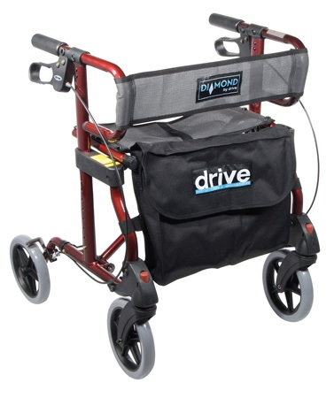 Diamond Rollator Walker with Comfortable Seat and Back