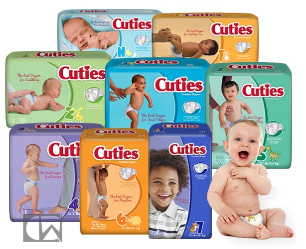 First Quality Products Cuties Premium Baby Diapers