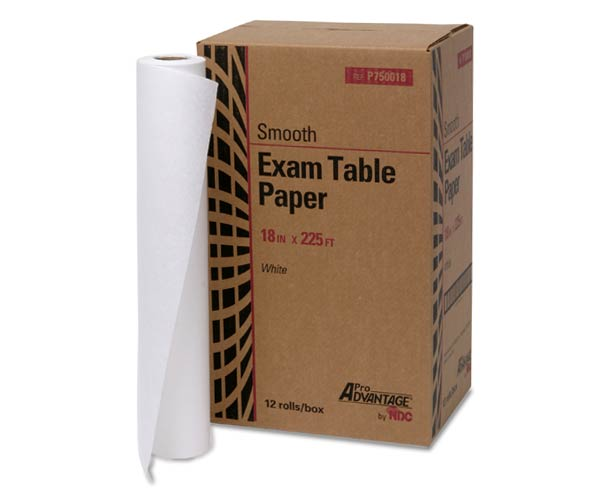 Pro Advantage Exam Table Paper, Smooth