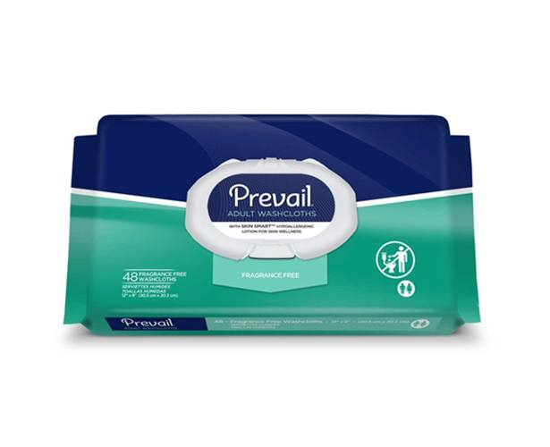 PREVAIL Prevail Fragrance Free Adult Washcloths