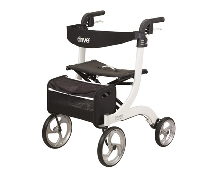 Nitro Aluminum Rollator with 10 inch Casters