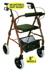 Mabis DMI Adjustable Seat Height Rollator