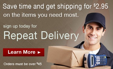 $2.95 Flat Rate Shipping with Repeat Delivery