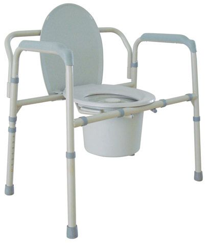 Drive Medical Bariatric Folding Steel Commode