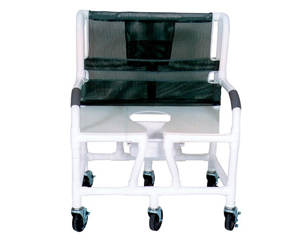 MJM International Bariatric PVC Shower Commode Chair