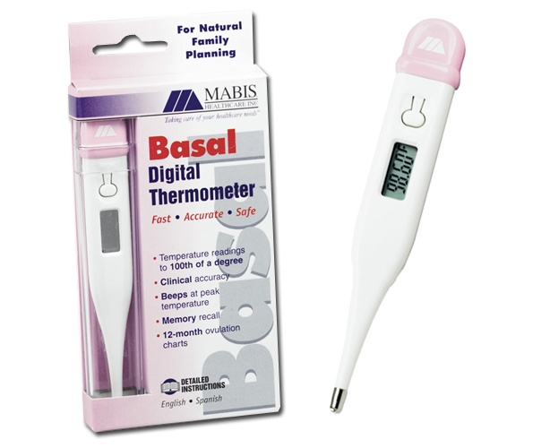 Mabis DMI Digital Basal Thermometer - 60 Second
