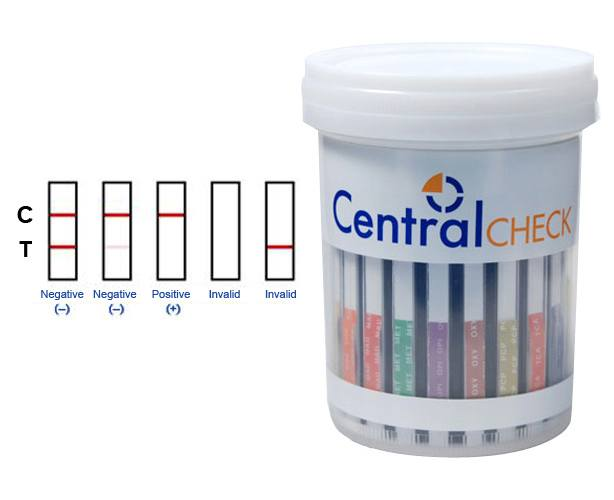 Devon Medical Products CentralCheck 5 Panel T-Cup Drug Test