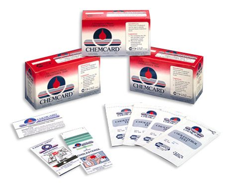 Chemcard Cholesterol Screening Test Strips
