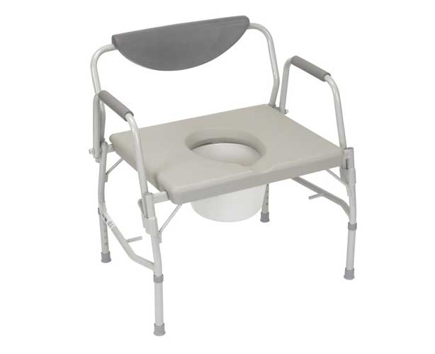 Bariatric Drop Arm Commode, 1000 lb Capacity