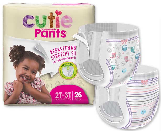 First Quality Products Cuties Training Pants, Refastenable - Girls
