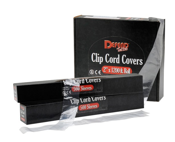 defend tattoo clip cord covers cwi medical supplies. Black Bedroom Furniture Sets. Home Design Ideas