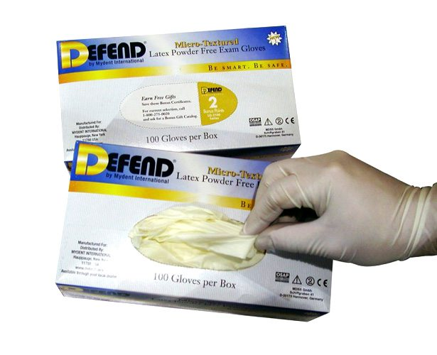 Mydent International Defend Powder-Free Micro Textured Latex Exam Gloves