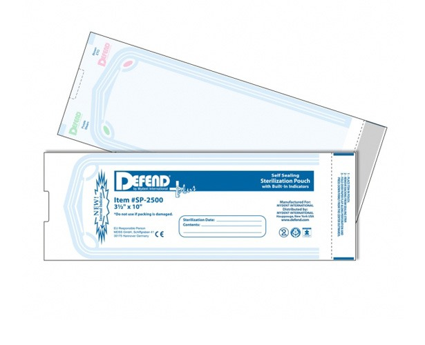 Mydent International Defend Sterilization Pouches with Internal Indicator Strips