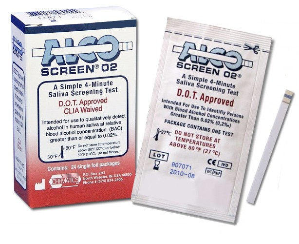 Chematics Inc. Alco-Screen 02 Alcohol Test Strips (DOT Approved)