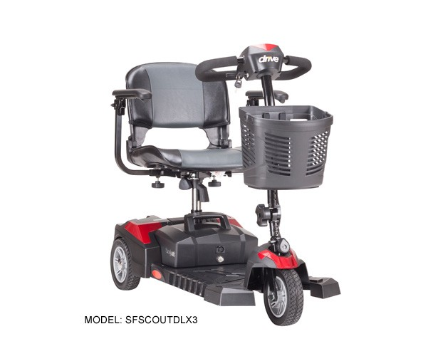Scout Compact Travel Power Scooter, 3 Wheel
