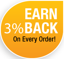 Earn 3% Back on Every Purchase