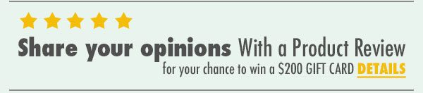 Share Your Opinions with us at CWI Medical. Write a review and be entered to win a $200 gift card.