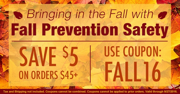 Bringing in the Fall! Save $5 with coupon code: FALL16