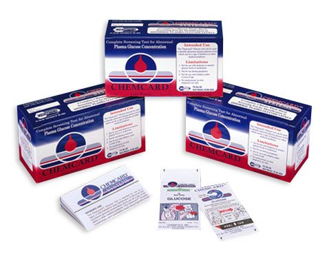 Chematics Inc. Chemcard Glucose Screening Test Strips
