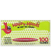 Emerald Gloves Happy Hands Powder Free Latex Gloves