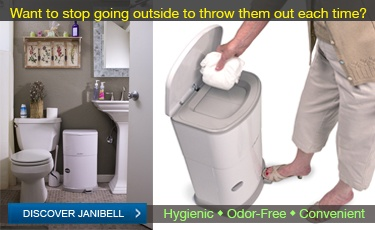 Janibell Waste Disposal System for Adult Diapers - Hygienic & Convenient Odor-Free Adult Diaper Disposal