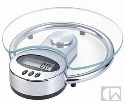 Newline Newline Elegant Glass Kitchen Scale