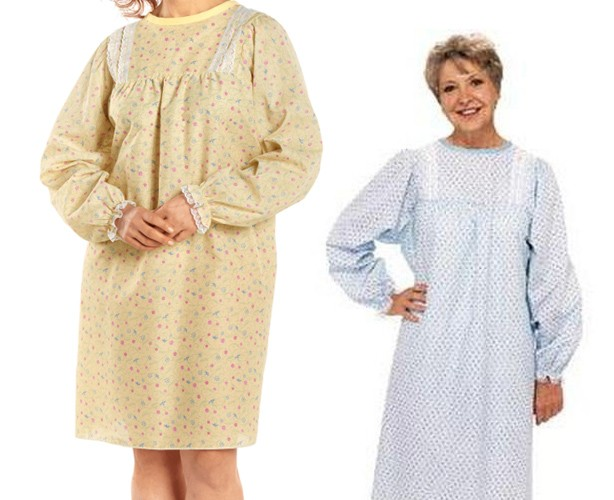 Salk LadyLace Patient Gown Long Sleeve
