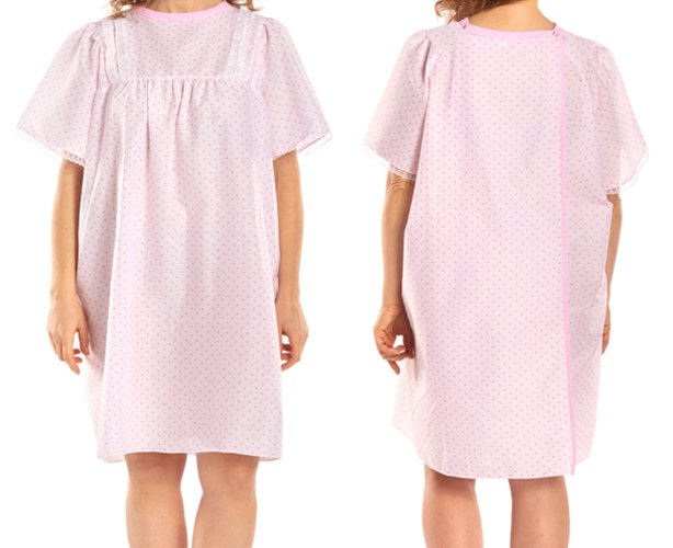 Salk LadyLace Patient Gown Short Sleeve