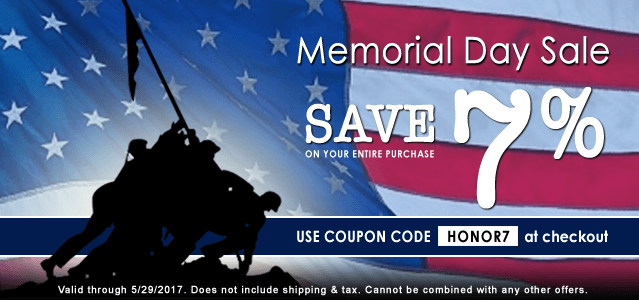 Memorial Day Savings Starts Now! Save 7% on Your Next Order at CWIMedical.com with coupon code HONOR7 at checkout