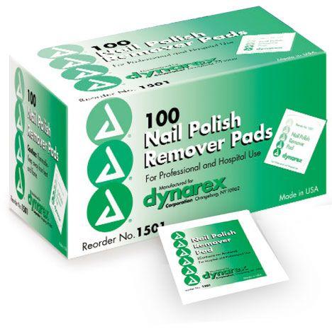 Dynarex Nail Polish Remover Pads