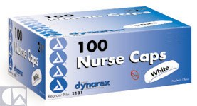 Dynarex Corp. Nurses Caps, Bouffant