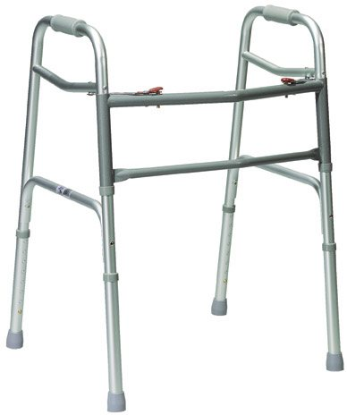 Oversized Aluminum Folding Walker, 2-button
