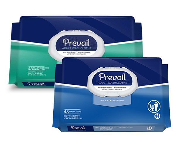Prevail Washcloths Soft Pack w/Lid
