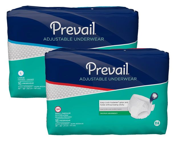 Attends Prevail Super Absorbent Adjustable Underwear