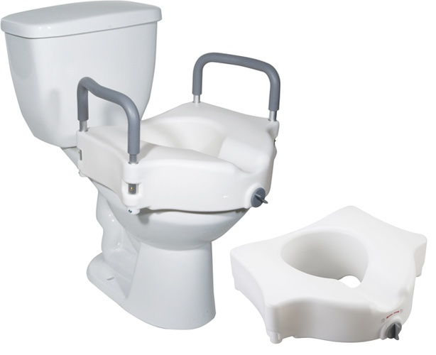 Drive Medical Raised Toilet Seat with Lock