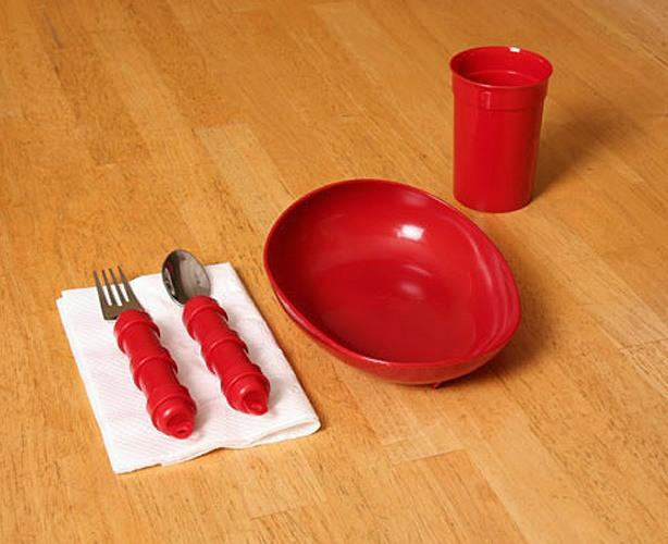 Maddak Ableware Redware Tableware - Basic