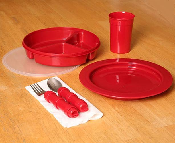 Maddak Ableware Redware Tableware - Deluxe