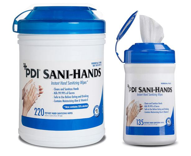 PDI Inc Sani-Hands ALC Antimicrobial Hand Wipes