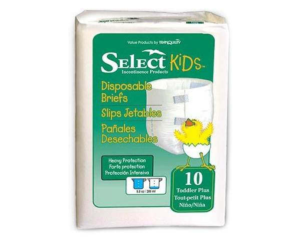 Principle Business Enterprises Select Disposable Briefs, Toddler Size