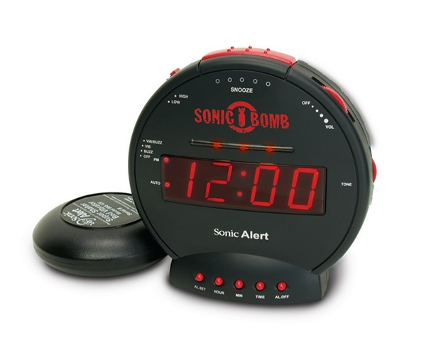 Sonic Bomb Alarm Clock with Super Shaker