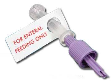 Enteral Feeding Spike Adapter with Spikeright Plus Connector