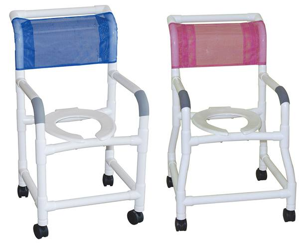 MJM International PVC Shower Commode Chair