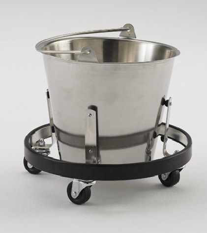 Hassoc Medical Stainless Steel Kick Bucket with Frame
