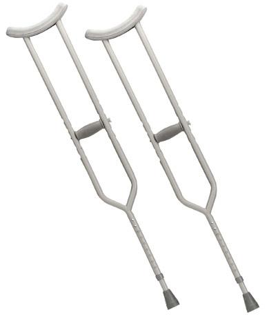 Drive Medical Heavy Duty Steel Crutches