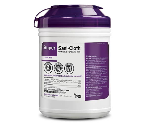 PDI Inc Super Sani-Cloth Germicidal Disposable Wipes