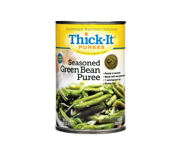 Thick-It Thickened Foods Thick-It Purees, Seasoned Green Beens, Case