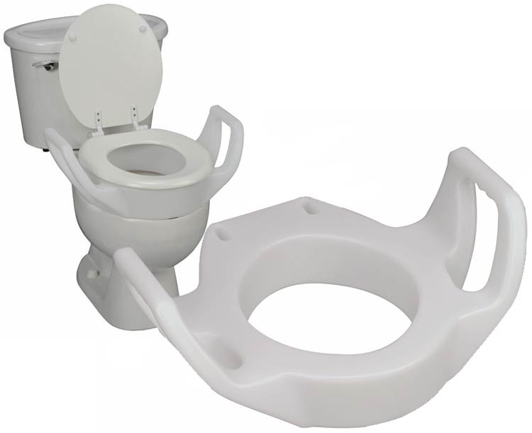 Mabis DMI Standard Toilet Seat Riser with Arms