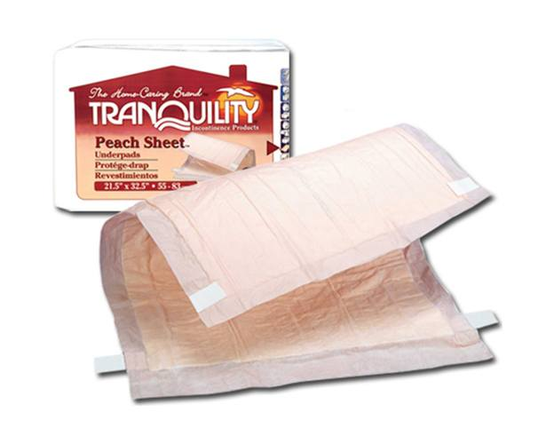 Principle Business Enterprises Tranquility Peach Sheet Underpads
